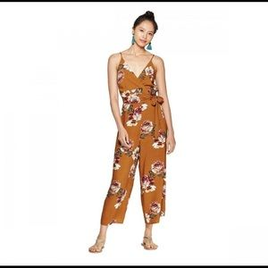 Xhilaration Women's Floral Print wrap jumpsuit